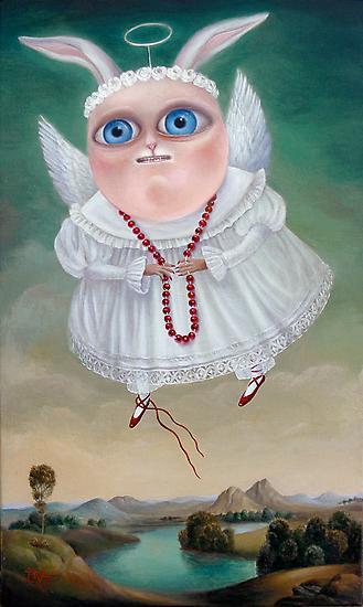 Lake of Mermaids 50 x 30 x 2.5cm. Original Painting - Sold by Irena Aizen