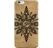 Intricate Yoga Om Star  iPhone Case/Skin