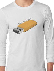 "USB - ""Third Time Lucky!"" [Black Text] Long Sleeve T-Shirt"
