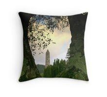 Glendalough view Throw Pillow