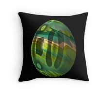 Psychadelic Easter Egg 6 Throw Pillow