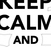 Keep calm and paint on Sticker