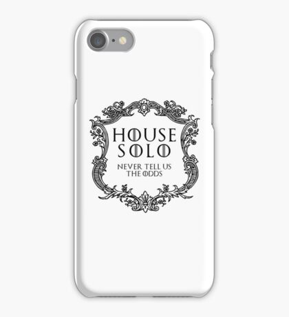 House Solo (black text) iPhone Case/Skin