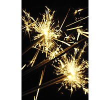 New Year Eve Sparklers Photographic Print