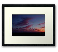 Cadillac Sunset II Framed Print