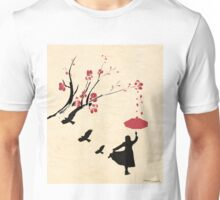 Cherry Blossom Girl Unisex T-Shirt