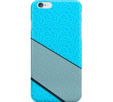 Light blue with gray stripe iPhone Case/Skin