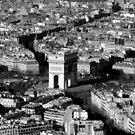 Arc de Triomphe and Surrounding Parisienne Cityscape by Honor Kyne