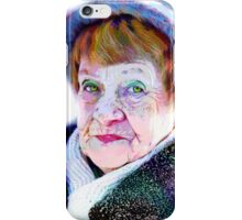 Her funny hazel eyes and funny blue hat... iPhone Case/Skin