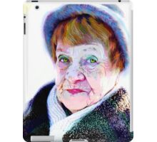 Her funny hazel eyes and funny blue hat... iPad Case/Skin