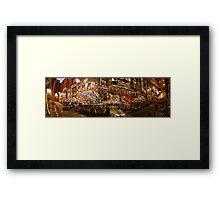 City Lights - Hosier Lane, Melbourne Framed Print