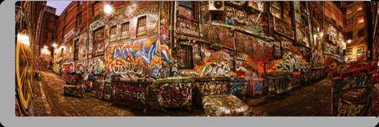 City Lights - Hosier Lane, Melbourne by Alf Caruana