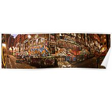 City Lights - Hosier Lane, Melbourne Poster