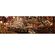 City Lights - Hosier Lane, Melbourne Photographic Print