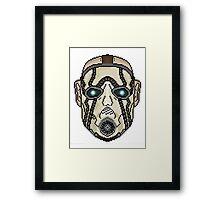 Psycho 8 Bit Framed Print