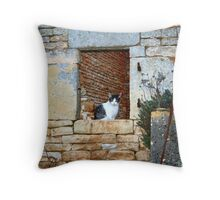 Looking out of My Window! Throw Pillow