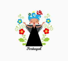 Portuguese Fado singer with ships Womens Fitted T-Shirt
