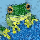 Mosaic Frog by slaterkerry