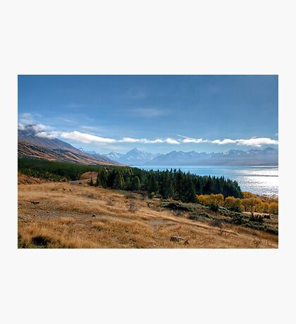 Lake Pukaki and Mount Cook from Peters Lookout Photographic Print