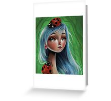 Miss Lady Bug Greeting Card