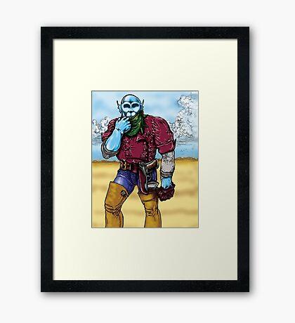 Space Cowboy Framed Print