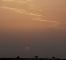 Sunset on the Niger by Jgirl