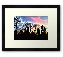 Dazzling Sunset Framed Print