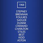 1968 Manchester United European Cup Final Team by RED DAVID