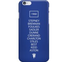 1968 Manchester United European Cup Final Team iPhone Case/Skin