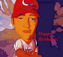 Baz-ze-ball birthday card by ♥⊱ B. Randi Bailey