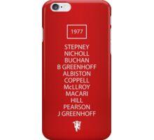 1977 Manchester United FA Cup Final Team iPhone Case/Skin