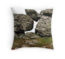 """"""" This is a Burial Chamber on the Cliff Edge. Throw Pillow"""