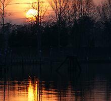 sunset lake by Alexandr Grichenko