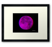 3D Moon Framed Print