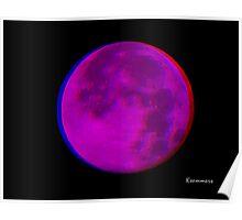 3D Moon Poster