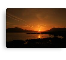Connemara sunrise Canvas Print