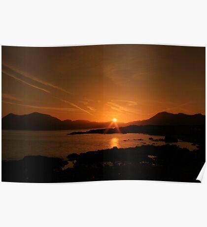 Connemara sunrise Poster