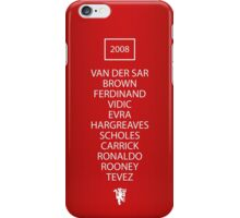 2008 Manchester United Champions League Final Team iPhone Case/Skin