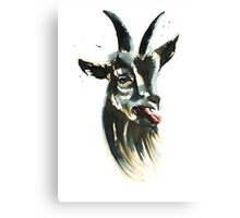 Goat Man Portrait Canvas Print