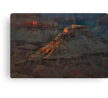 Temple At Sunset -  Grand Canyon Canvas Print