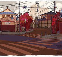 Crossing Ginko Street by David  Kennett