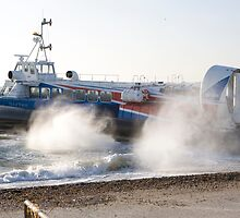 Southsea to the Isle of wight hovercraft by Keith Larby