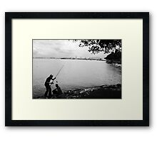 fishing still Framed Print