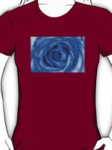 Abstract Macro Blue Rose T-Shirt