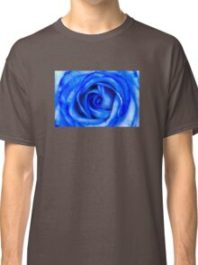 Abstract Macro Blue Rose Classic T-Shirt