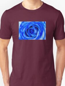 Abstract Macro Blue Rose Unisex T-Shirt