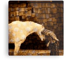 Horse Language Metal Print
