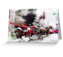 A Ride  Through  The Clouds /    Quebec City  Greeting Card