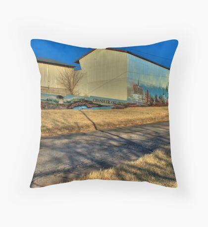 Route 66 Mural Throw Pillow