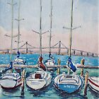 Ferguson Street Pier, Williamstown by Virginia  Coghill